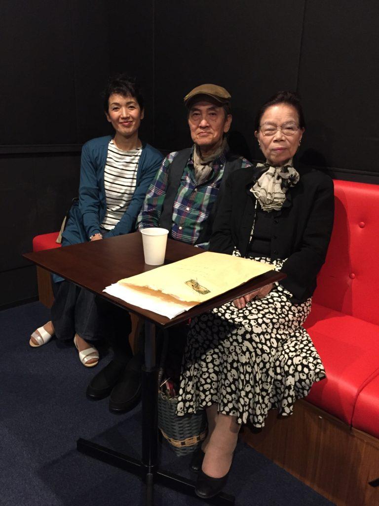 左:三原ミユキさん 中央:中村ヨシミツさん 右:笹瀬節子様